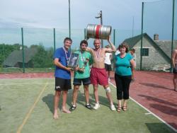 12. ročník Nohejbalového turnaje  trojic o putovní pohár starosty obce - 17.7.2010